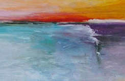 At The Edge Painting